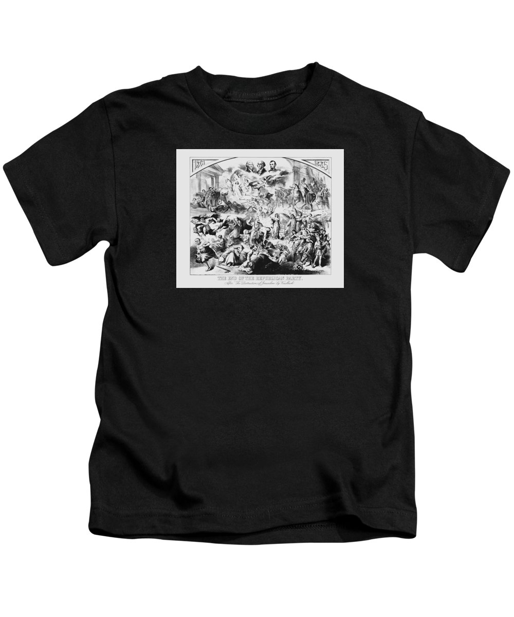 George Washington Kids T-Shirt featuring the mixed media The End Of The Republican Party by War Is Hell Store
