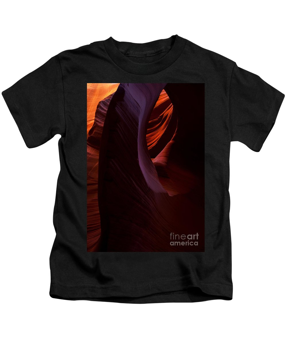 Antelope Canyon Kids T-Shirt featuring the photograph The Eye Of The Desert by Mike Dawson