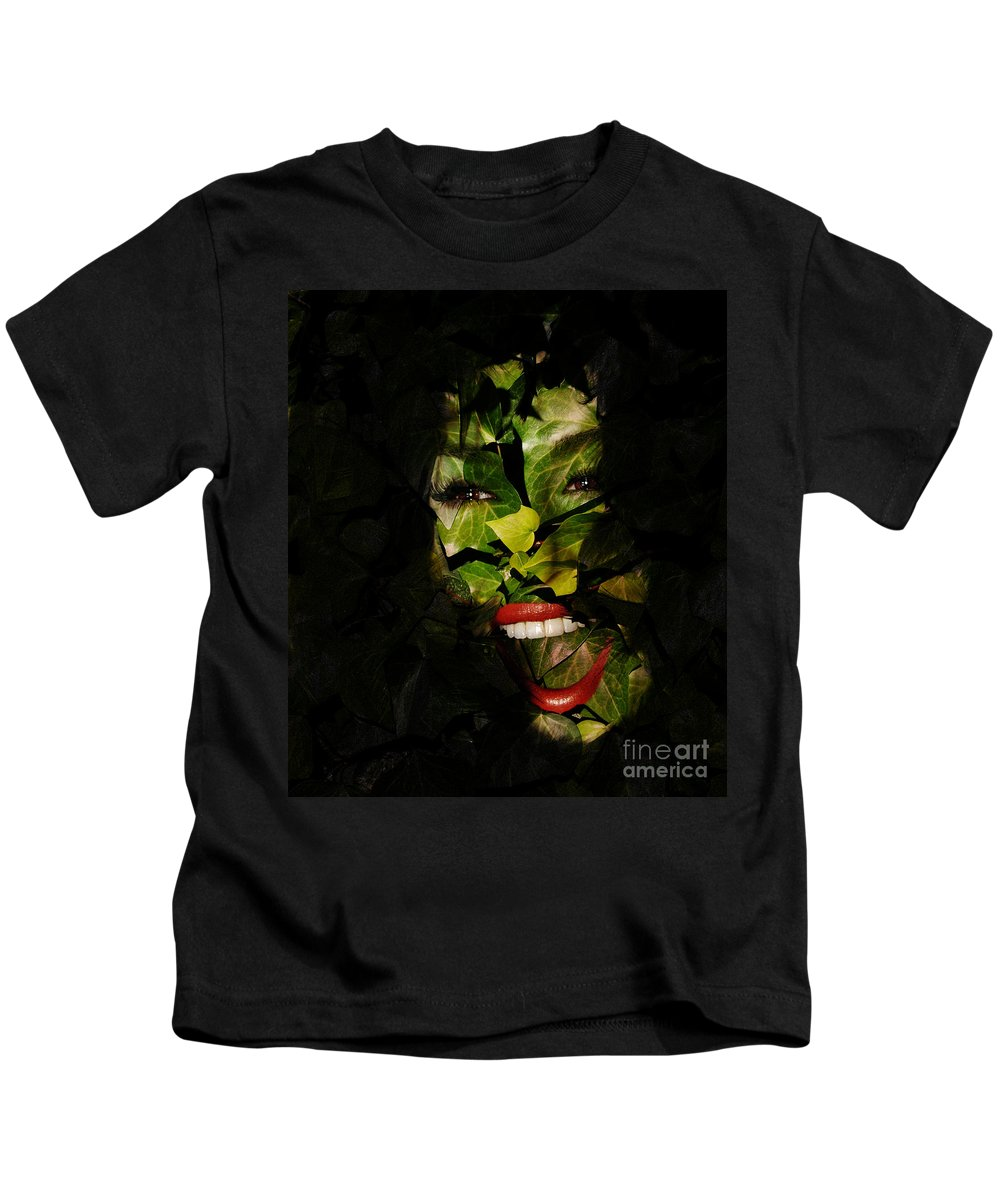 Clay Kids T-Shirt featuring the photograph The Eyes Of Ivy by Clayton Bruster