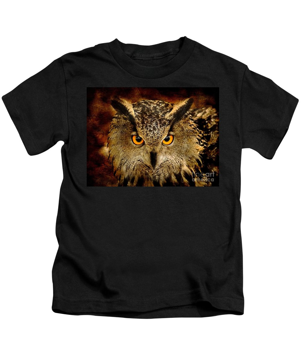 Bird Kids T-Shirt featuring the photograph The Eyes by Jacky Gerritsen