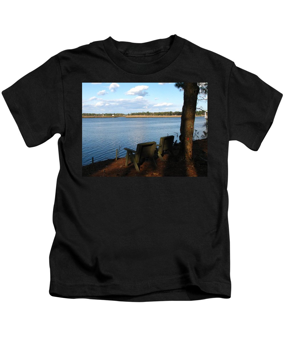 Father's Day Card Kids T-Shirt featuring the photograph The Fishing Spot by J M Farris Photography