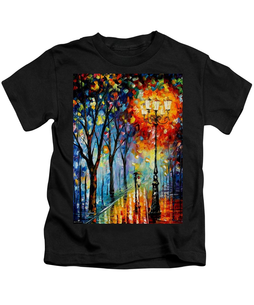 Afremov Kids T-Shirt featuring the painting The Fog Of Dreams by Leonid Afremov