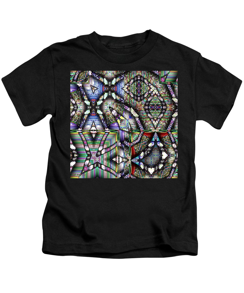 Abstract Kids T-Shirt featuring the painting The Four Horsemen Of The Apocalypse by RC DeWinter