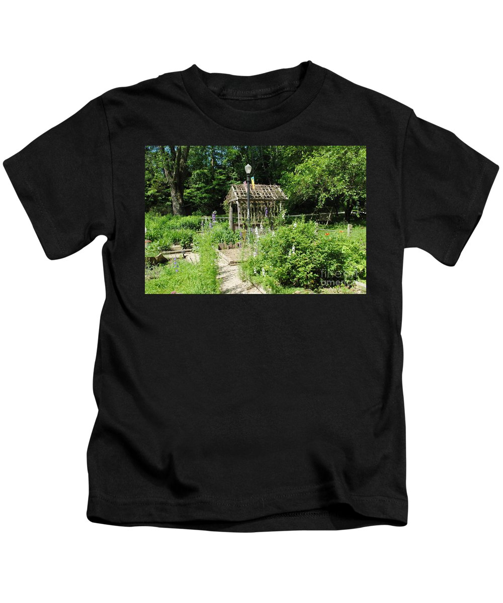 Floral Kids T-Shirt featuring the photograph The Garden by Jost Houk