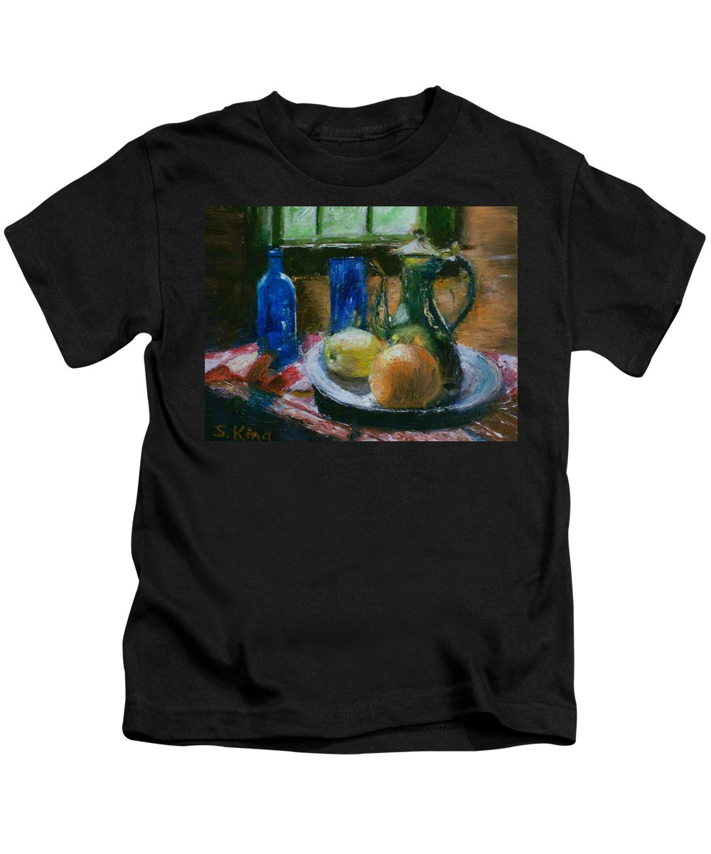 Origianl Kids T-Shirt featuring the painting The Gathering by Stephen King