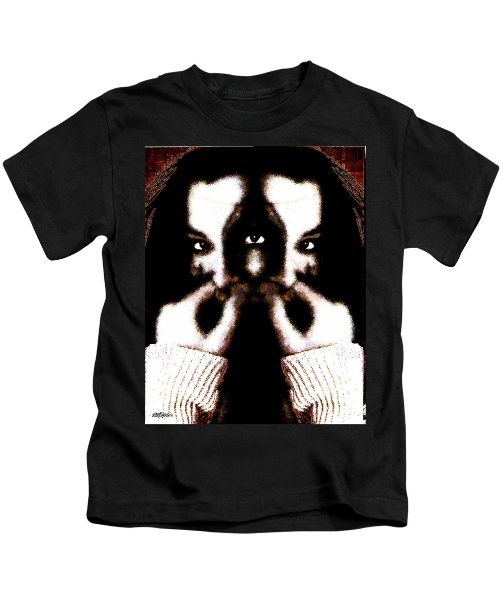 The Giggler Kids T-Shirt featuring the digital art The Giggler by Seth Weaver