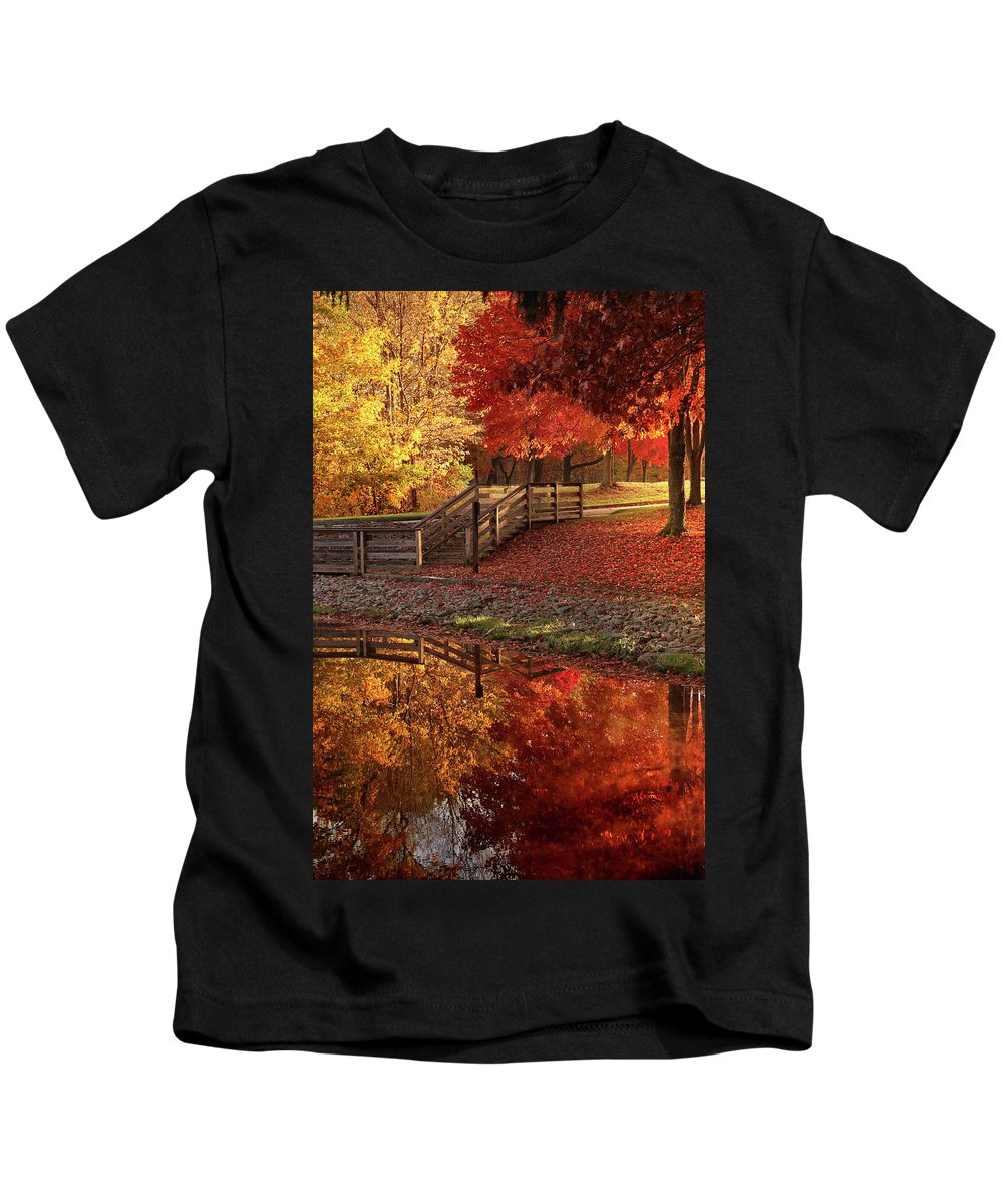 Kids T-Shirt featuring the photograph The Glory Of Autumn by Rob Blair