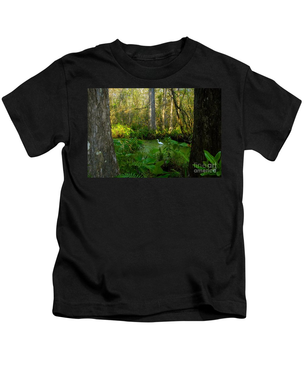 Corkscrew Swamp Kids T-Shirt featuring the photograph The Great Corkscrew Swamp by David Lee Thompson