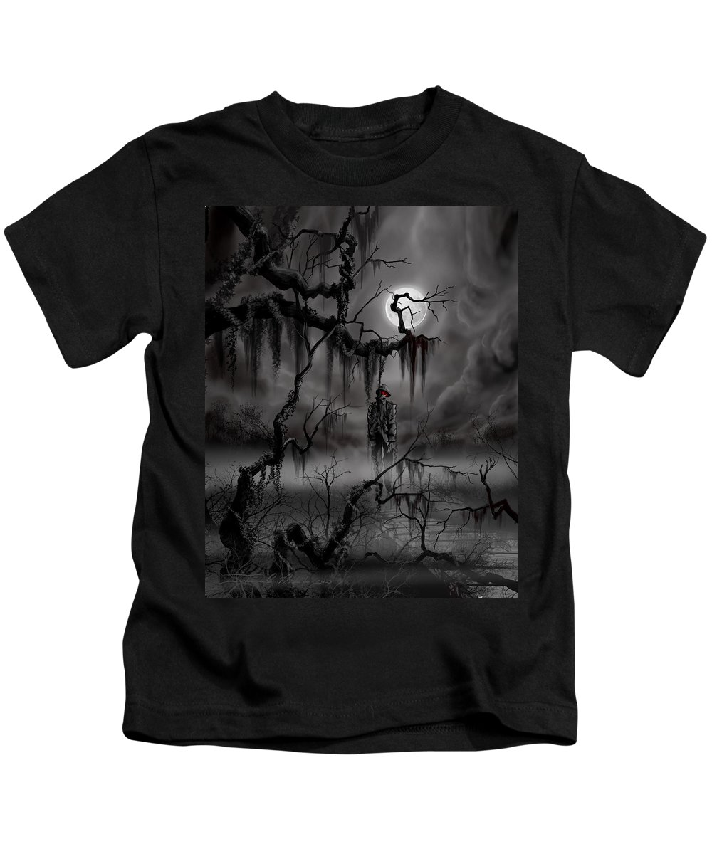 Nightmare Kids T-Shirt featuring the painting The Hangman by James Christopher Hill