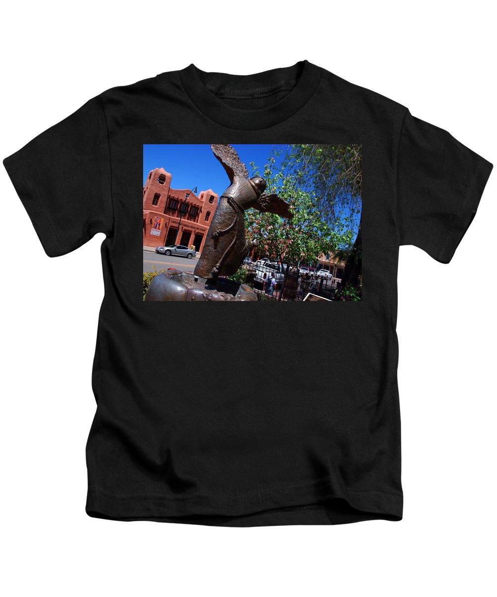 Sculpture Of San Franciskus Kids T-Shirt featuring the photograph The Happy San Francis by Susanne Van Hulst