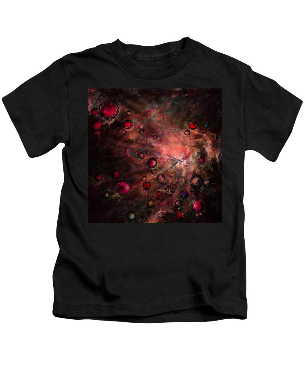 Abstract Kids T-Shirt featuring the digital art The Heart Of A Dream by Rachel Christine Nowicki