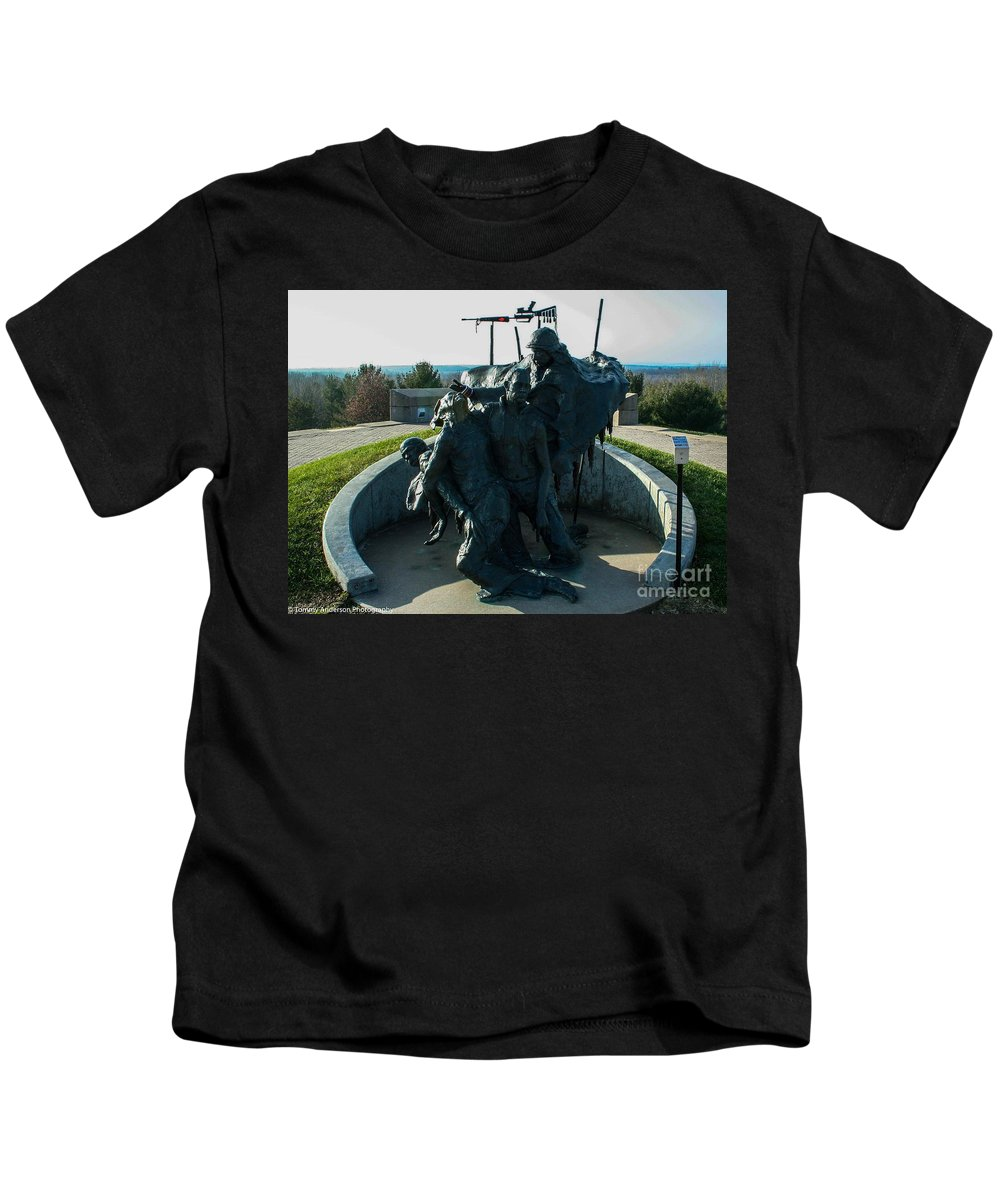 Native American Kids T-Shirt featuring the photograph The Highground by Tommy Anderson