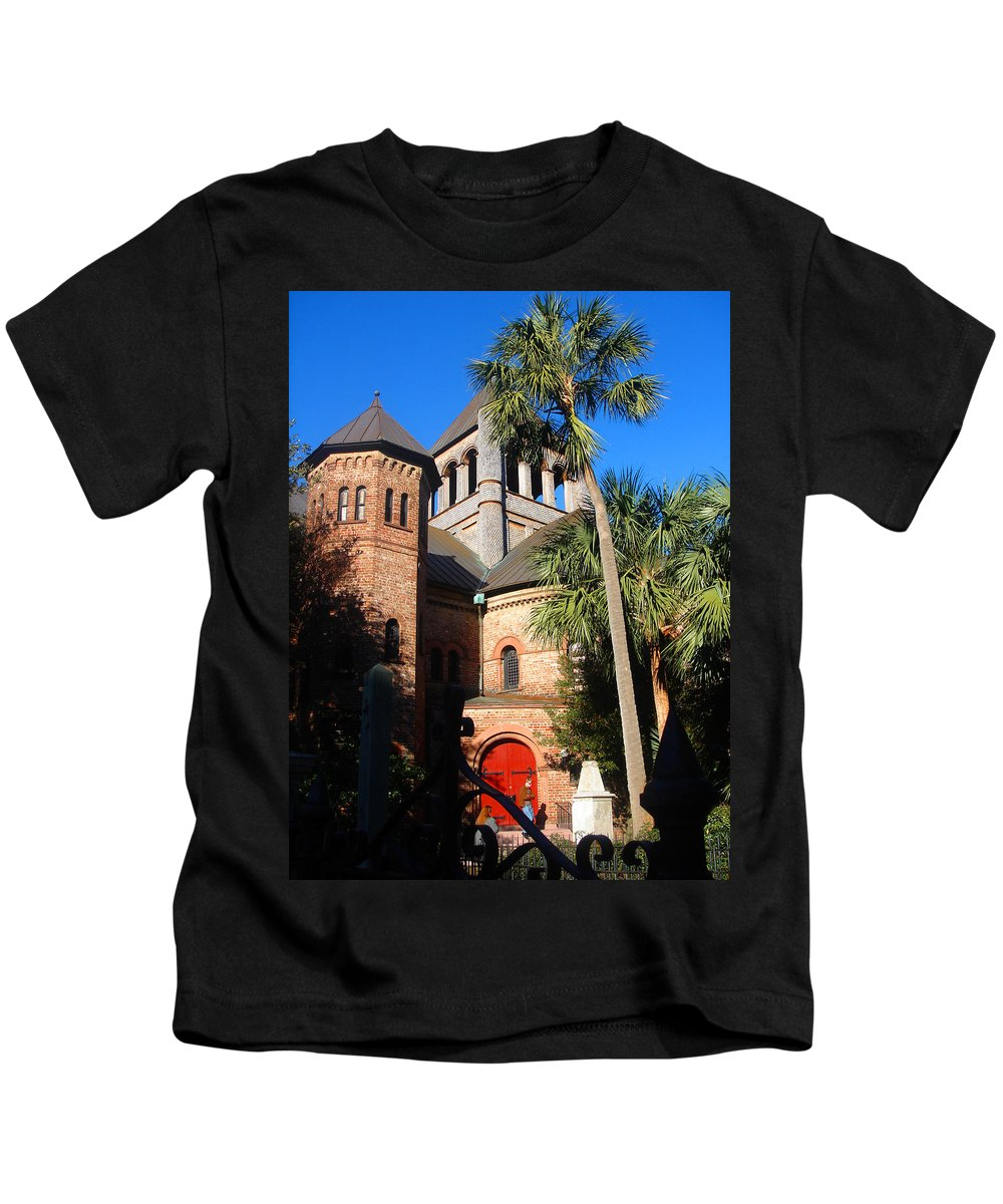 Photography Kids T-Shirt featuring the photograph The Holy City by Susanne Van Hulst