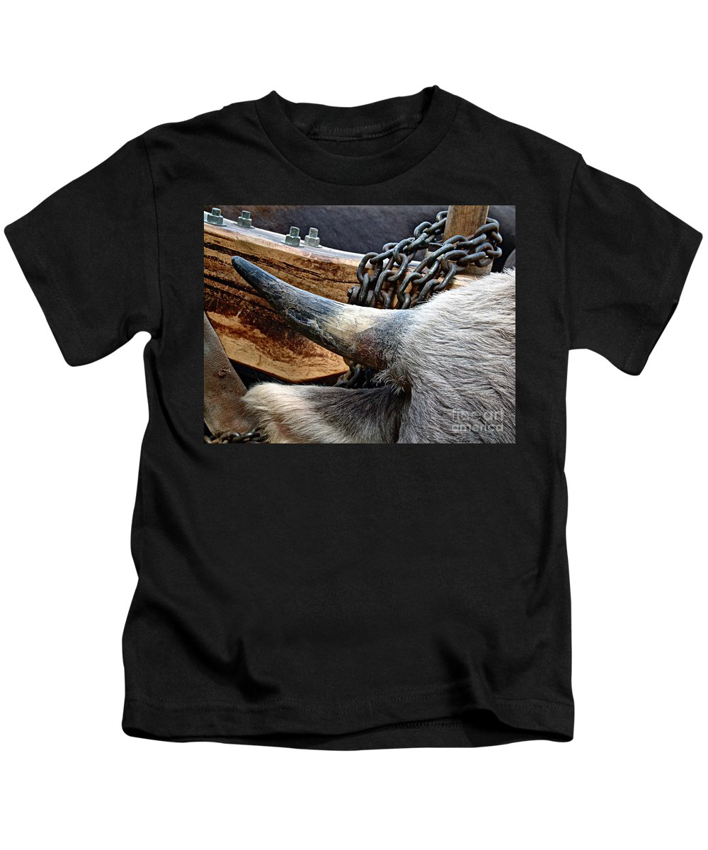 Animal Kids T-Shirt featuring the photograph The Horn Of The Beast by RC DeWinter