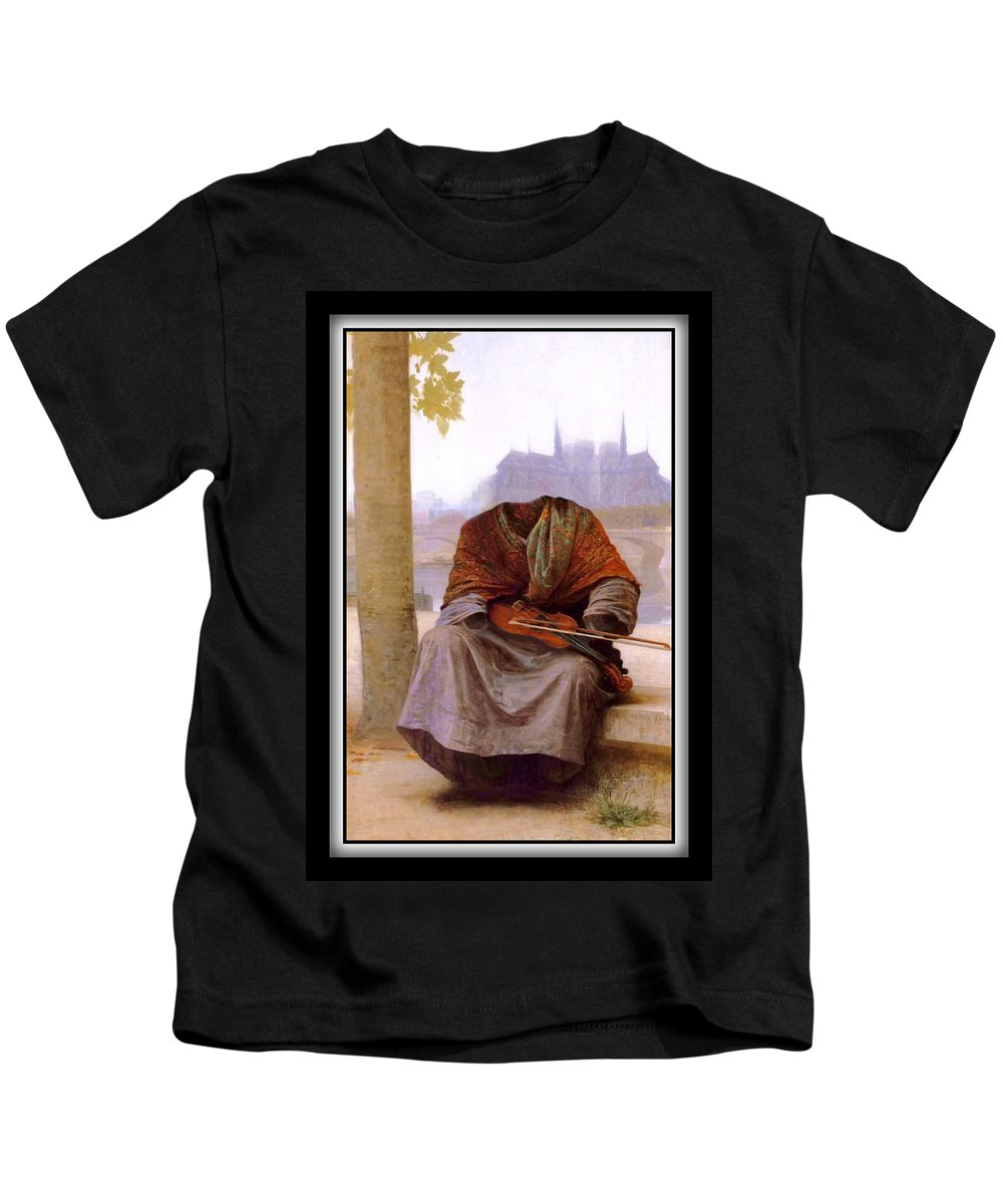 Bouguereau Kids T-Shirt featuring the painting The Invisible Bohemian by Gravityx9 Designs