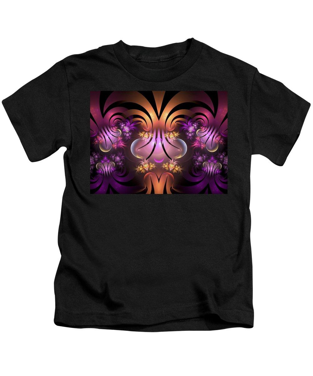 Fractal Art Kids T-Shirt featuring the digital art The Jesters Garden by Amorina Ashton