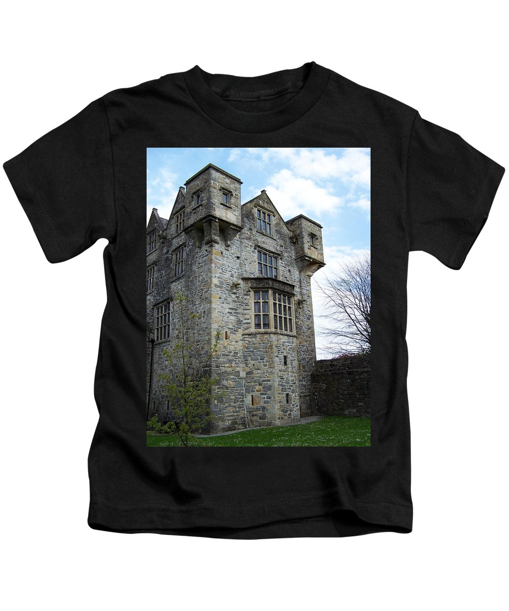 Ireland Kids T-Shirt featuring the photograph The Keep At Donegal Castle Ireland by Teresa Mucha