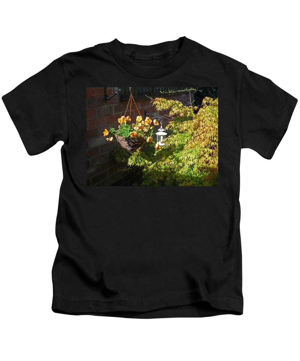 Hanging Basket Kids T-Shirt featuring the photograph The Lantern by Charles Stuart