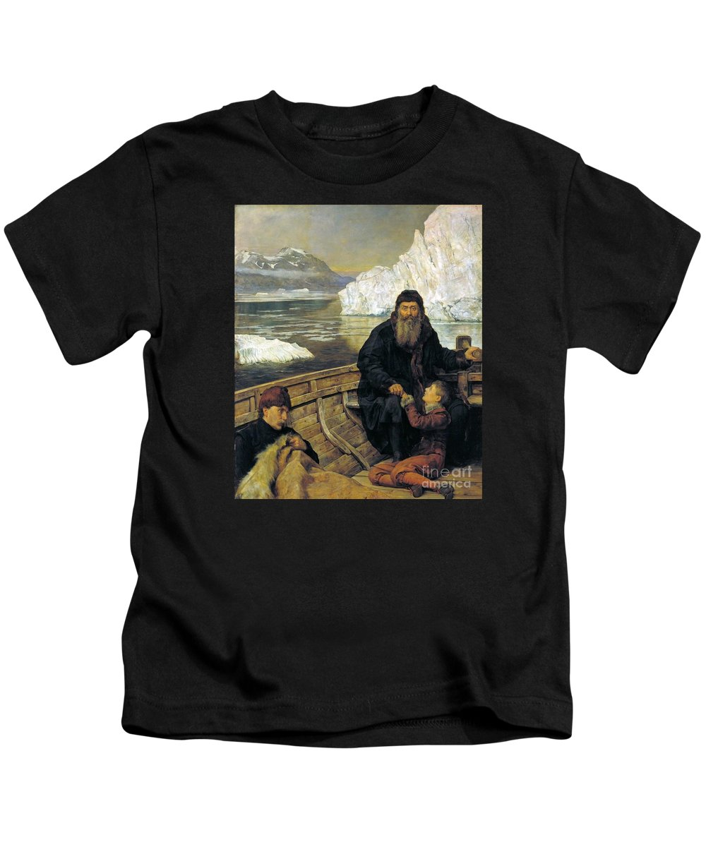 The Hon. John Collier - The Last Voyage Of Henry Hudson Kids T-Shirt featuring the painting The Last Voyage Of Henry Hudson by MotionAge Designs
