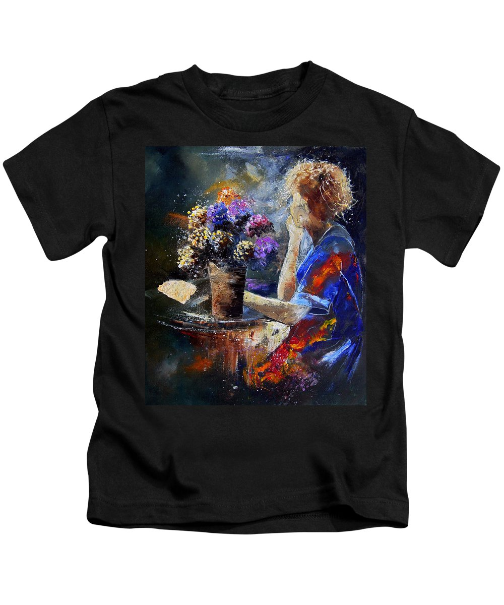 Girl Nude Kids T-Shirt featuring the painting The Letter by Pol Ledent