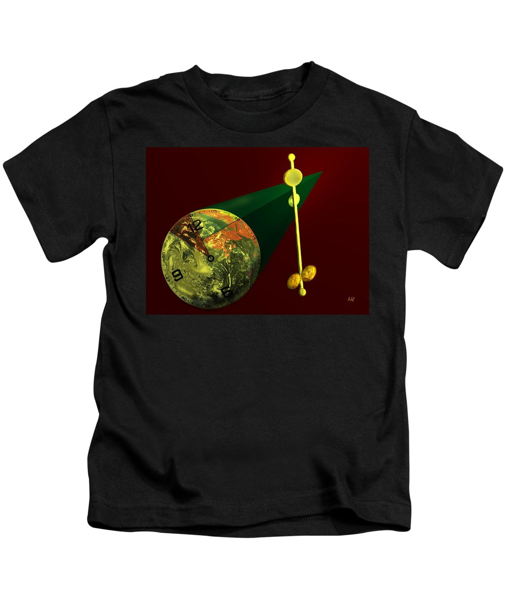 Earth Kids T-Shirt featuring the digital art The Metronome by Helmut Rottler