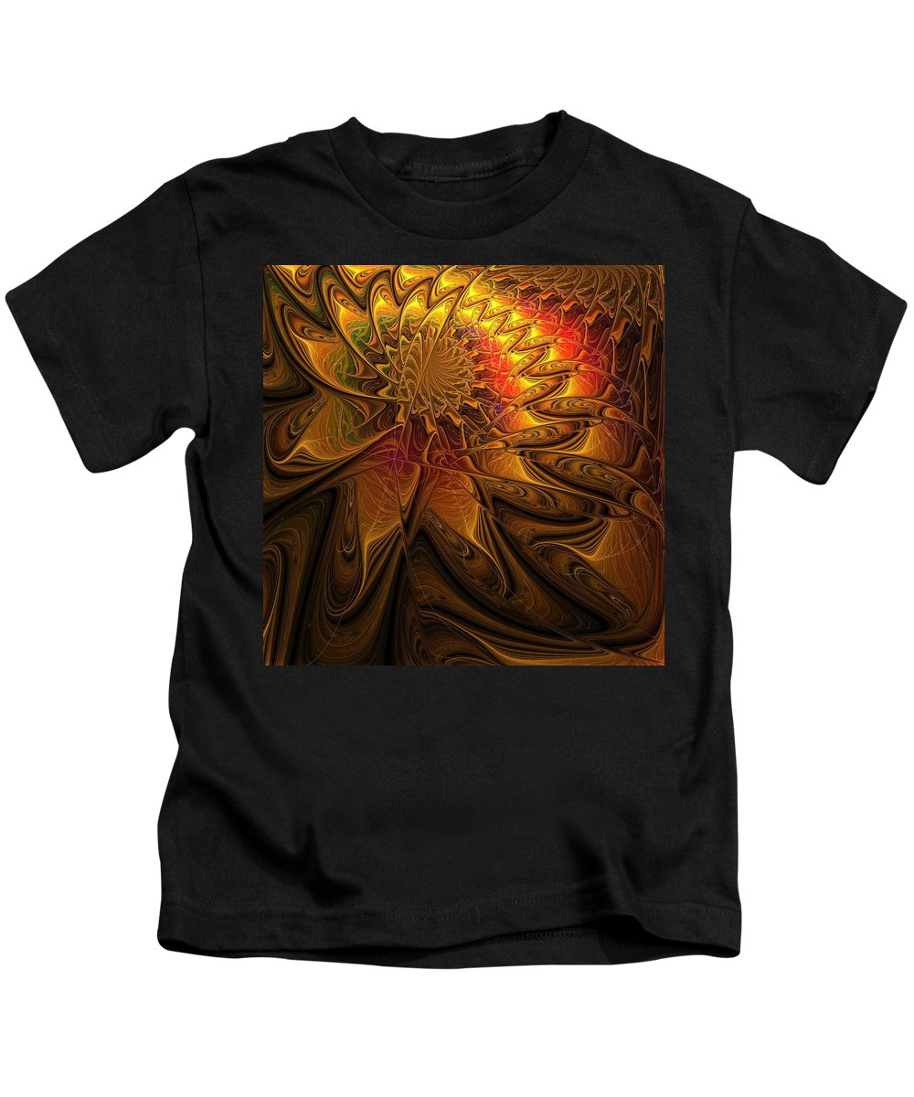 Digital Art Kids T-Shirt featuring the digital art The Midas Touch by Amanda Moore