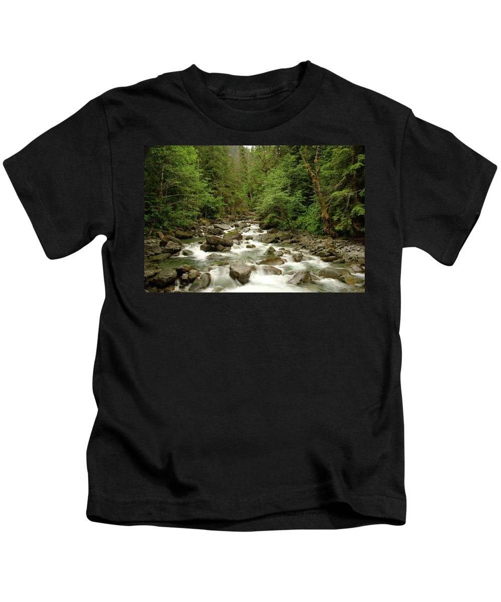 Water Kids T-Shirt featuring the photograph The Miller River by Jeff Swan