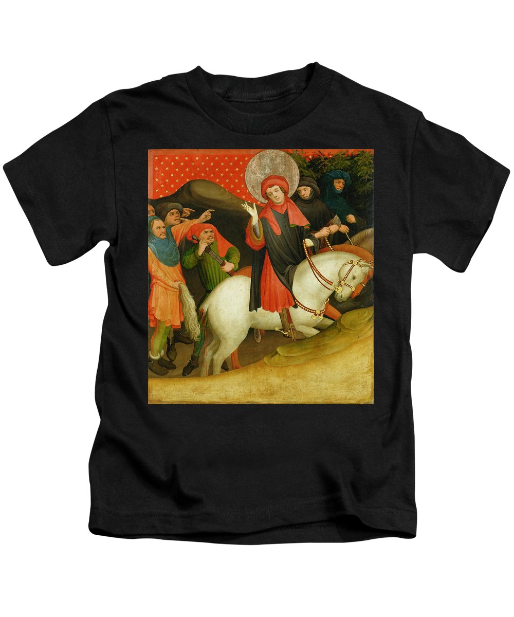 The Kids T-Shirt featuring the painting The Mocking Of Saint Thomas by Master Francke