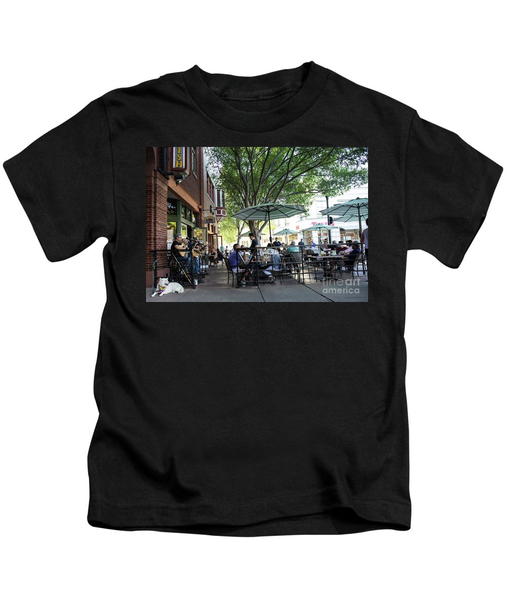 Dog Kids T-Shirt featuring the photograph The Musician's Dog by May Finch