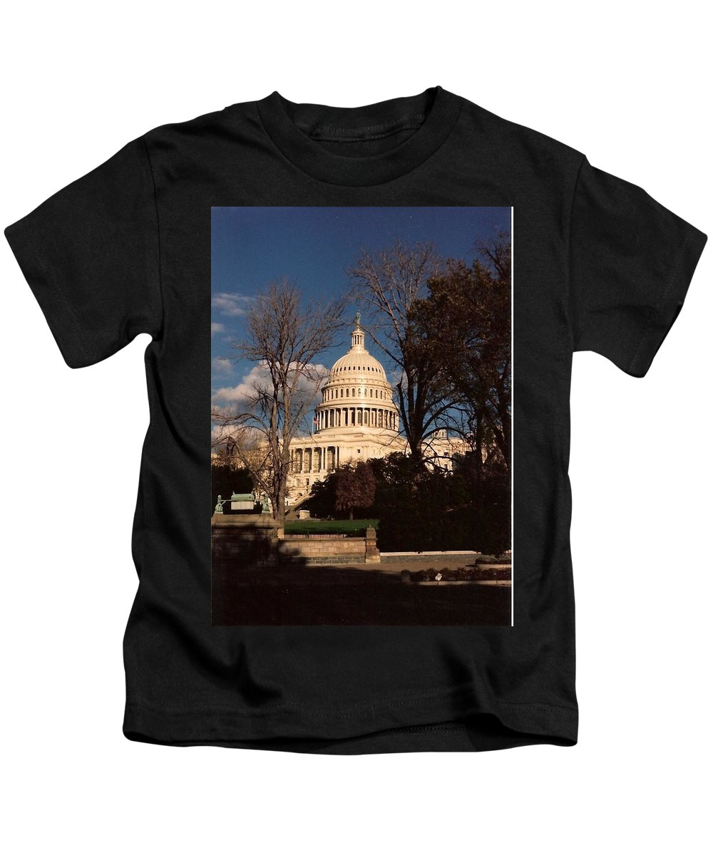Capitol Building Kids T-Shirt featuring the photograph The Nation's Capitol by Lauri Novak