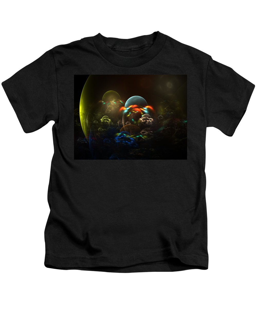 Fractal Kids T-Shirt featuring the digital art The Nursery by Lyle Hatch