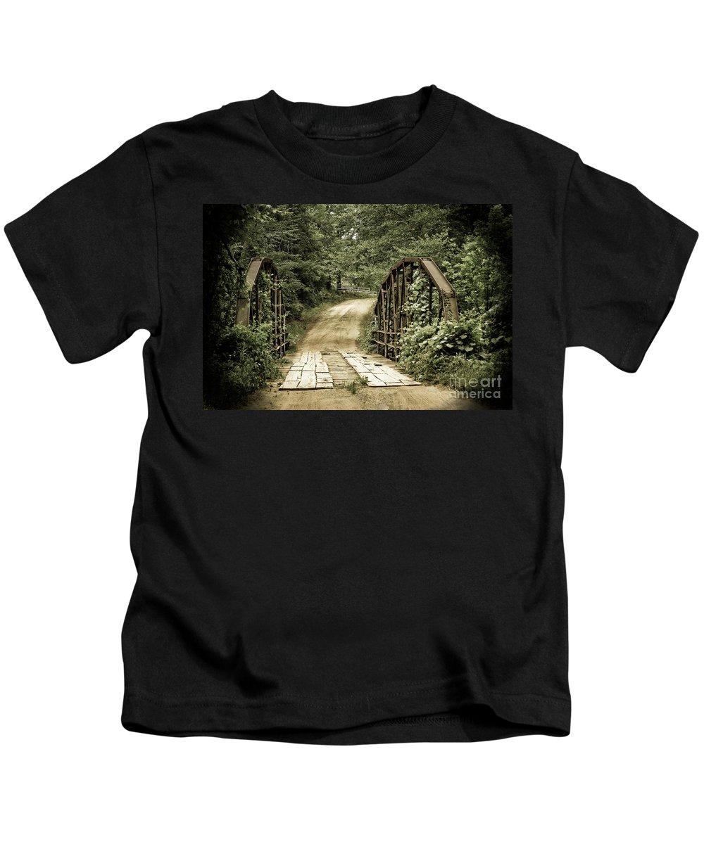 Bridges Kids T-Shirt featuring the photograph The Old Bridge by Kim Henderson