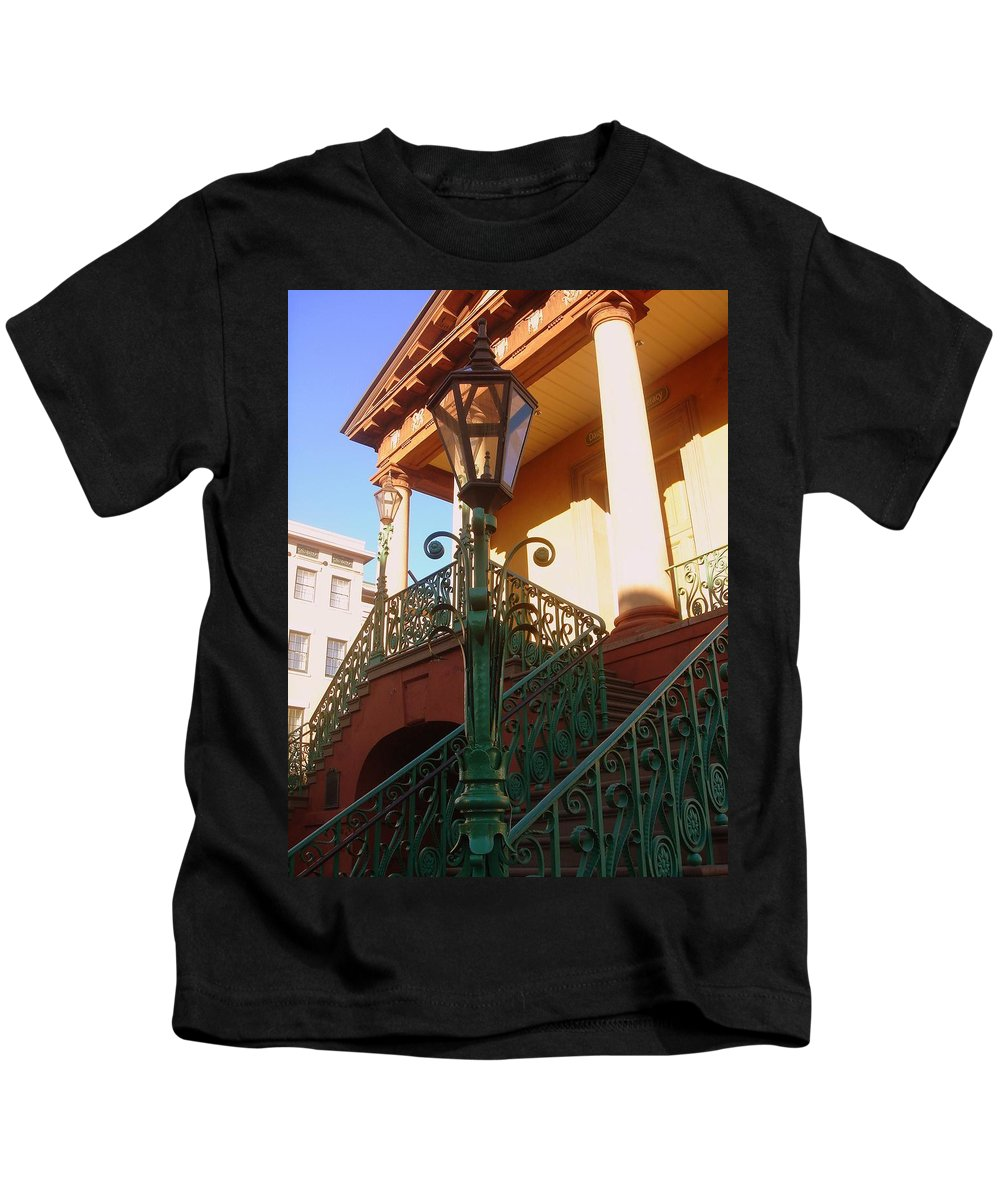 Photography Kids T-Shirt featuring the photograph The Old City Market in Charleston SC by Susanne Van Hulst