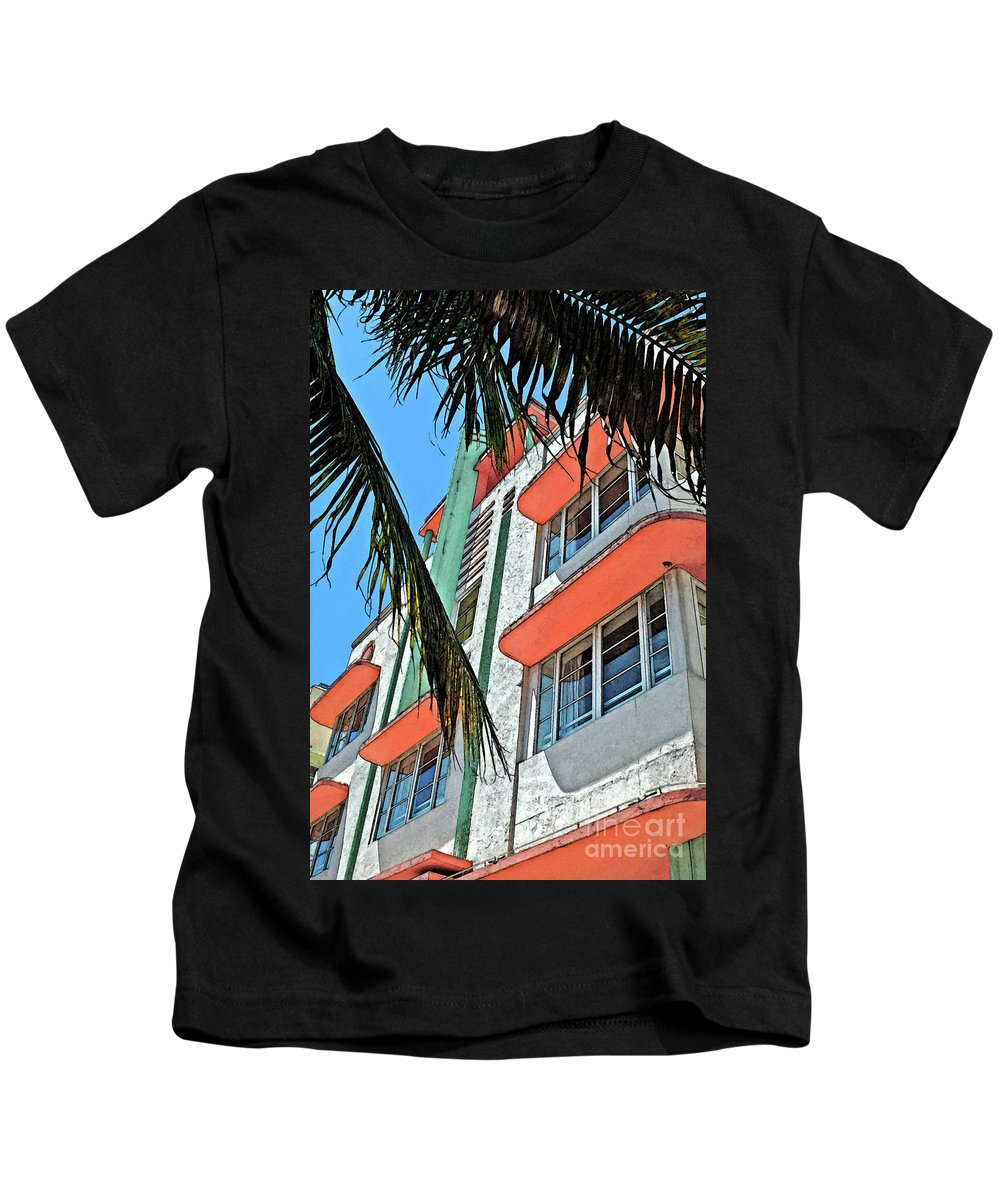 Miami Beach Kids T-Shirt featuring the photograph The Old Deco by Jost Houk