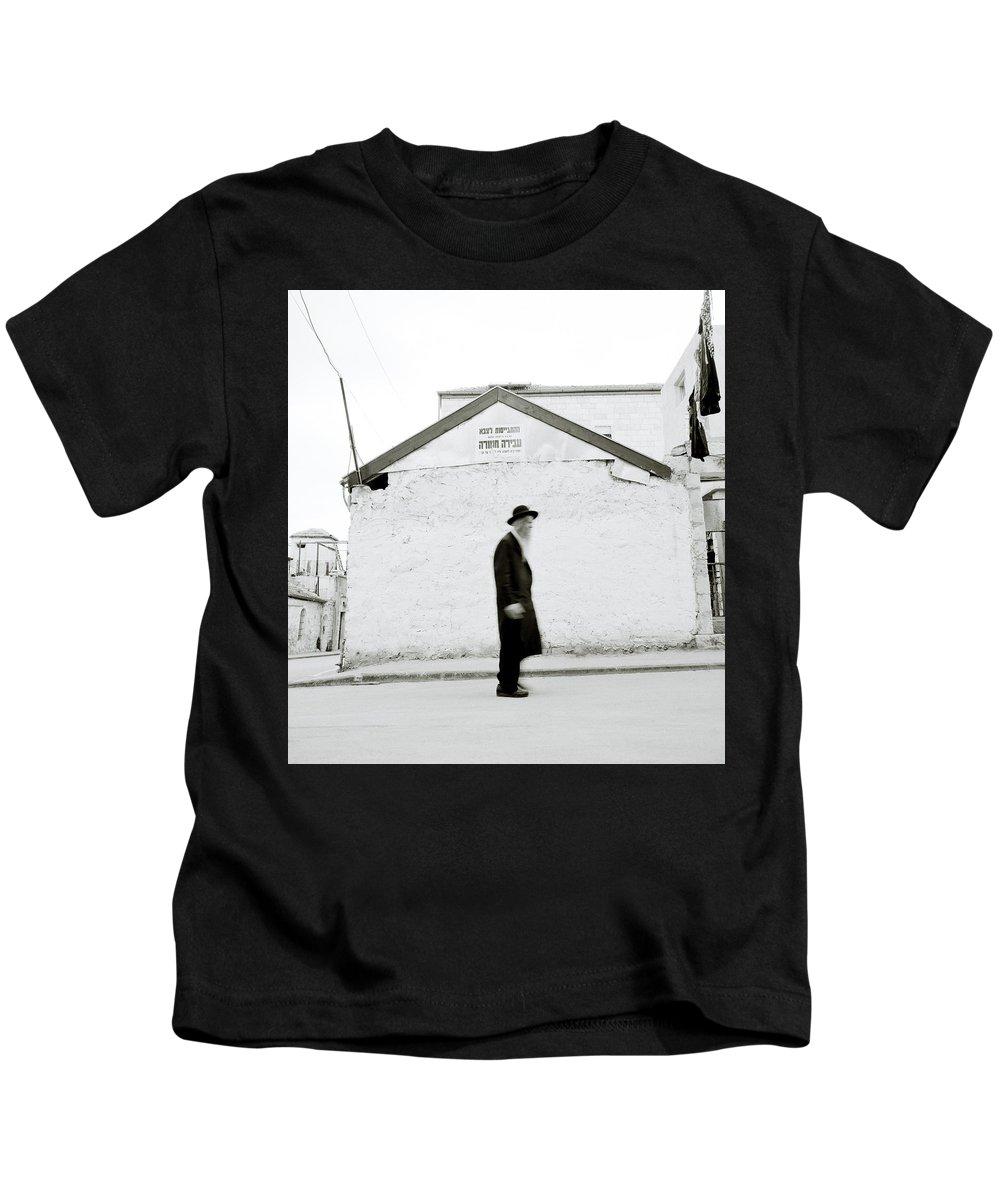 Jerusalem Kids T-Shirt featuring the photograph The Old Man Of Mea Shearim by Shaun Higson