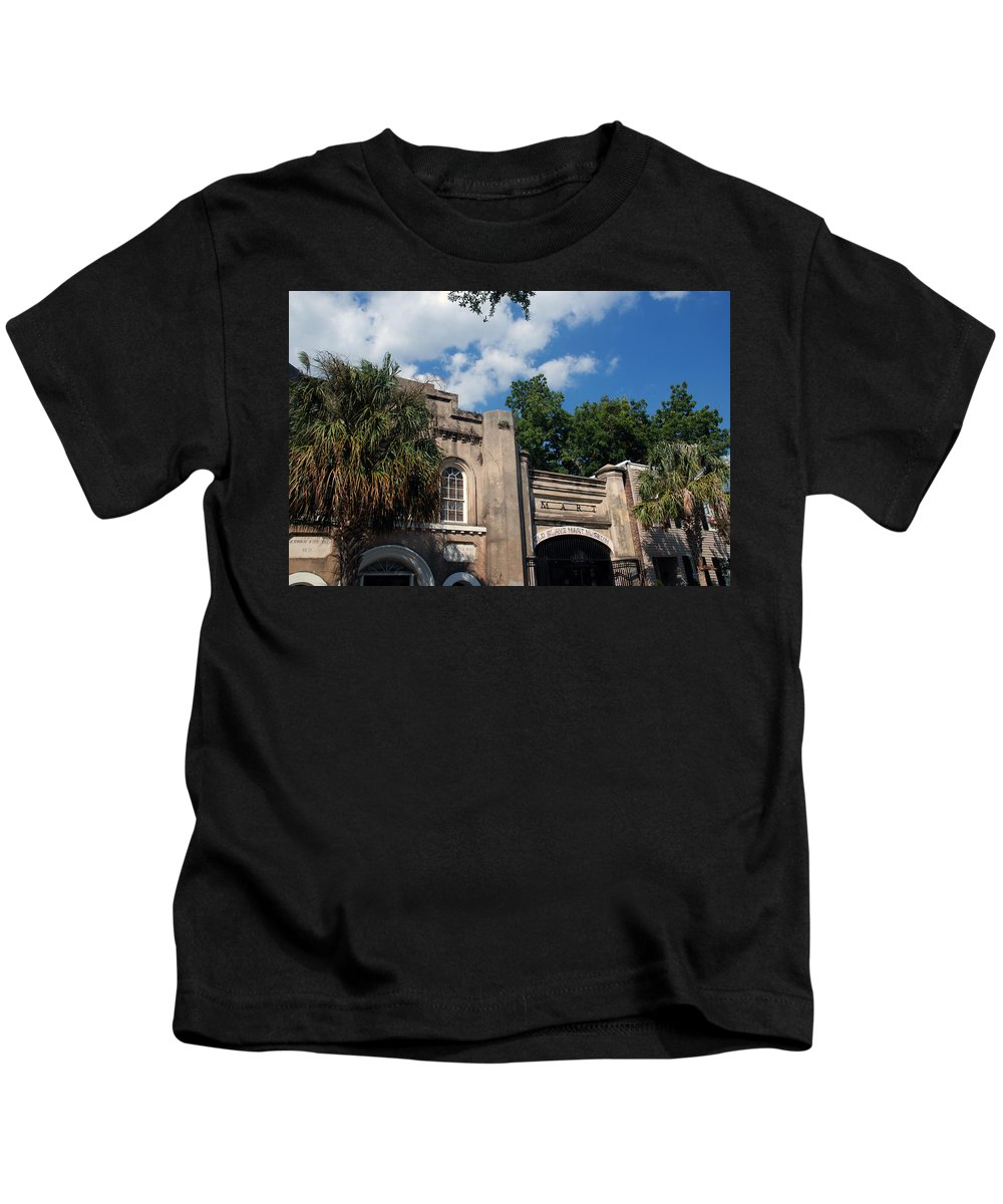 Photography Kids T-Shirt featuring the photograph The Old Slave Market Museum In Charleston by Susanne Van Hulst