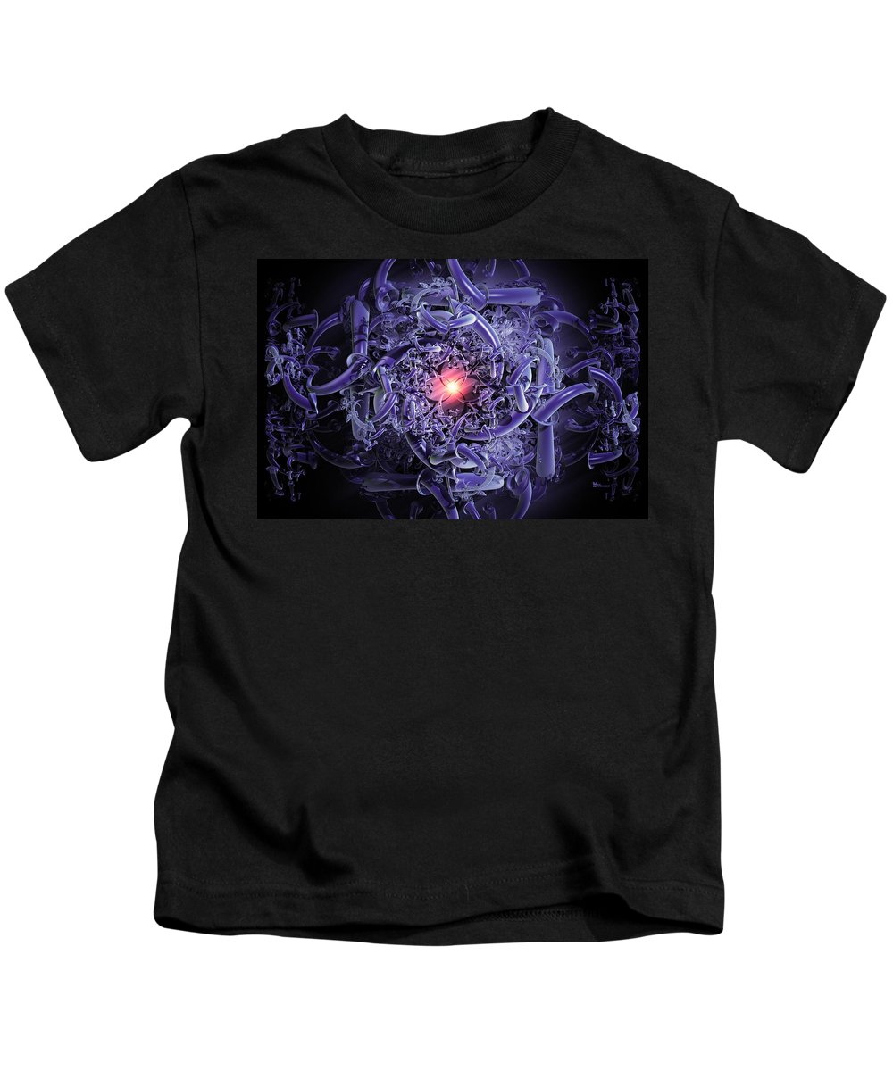 Abstract Kids T-Shirt featuring the digital art The Oracle by Max Steinwald