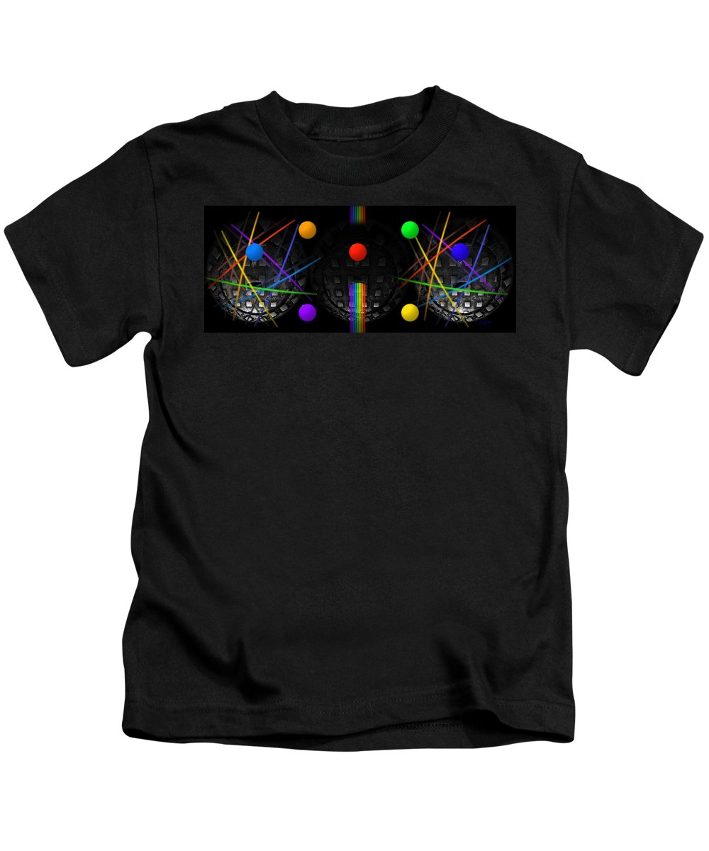 Manhole Kids T-Shirt featuring the painting The Origin Of Species by Charles Stuart