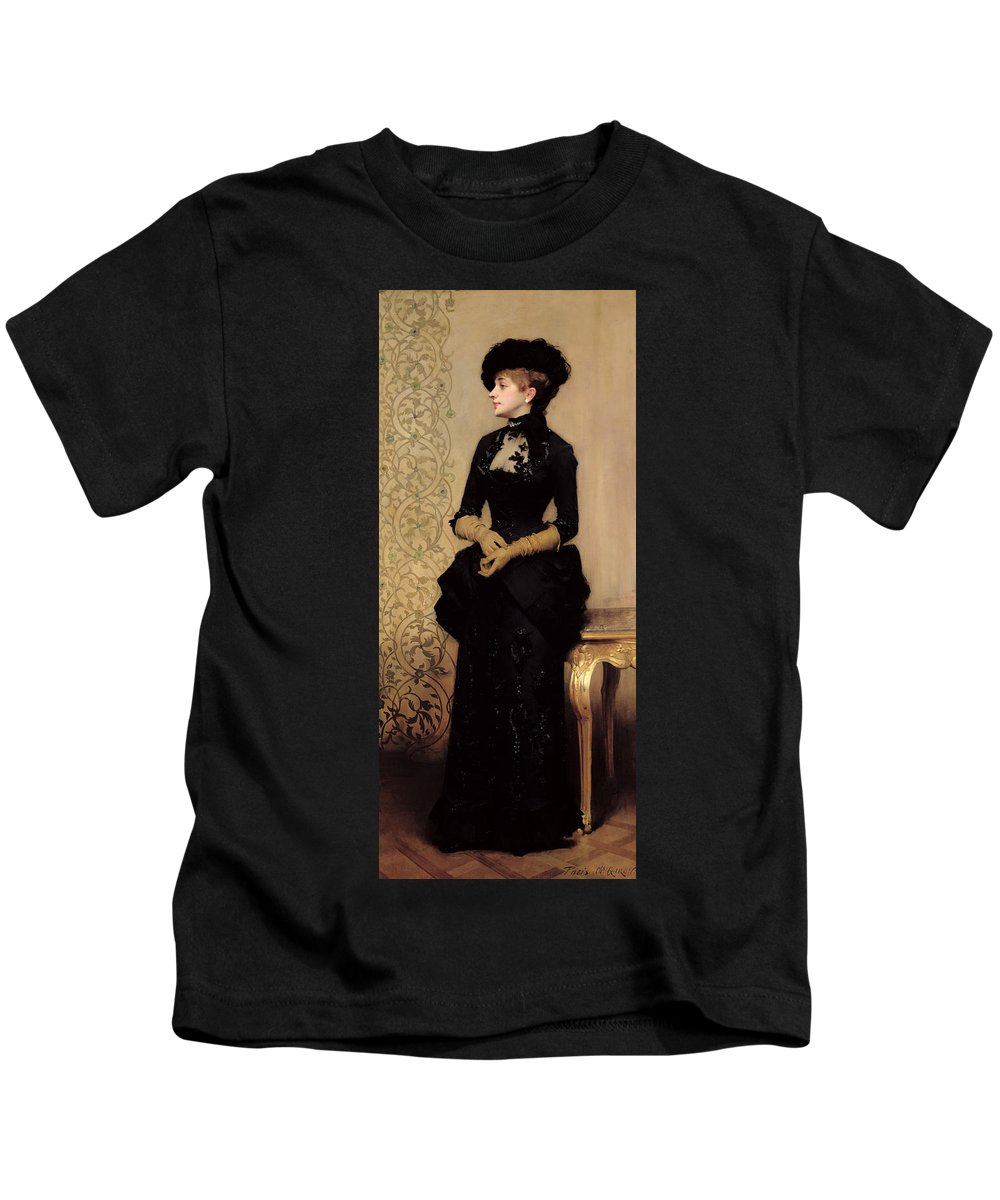 The Kids T-Shirt featuring the painting The Parisian by Charles Giron