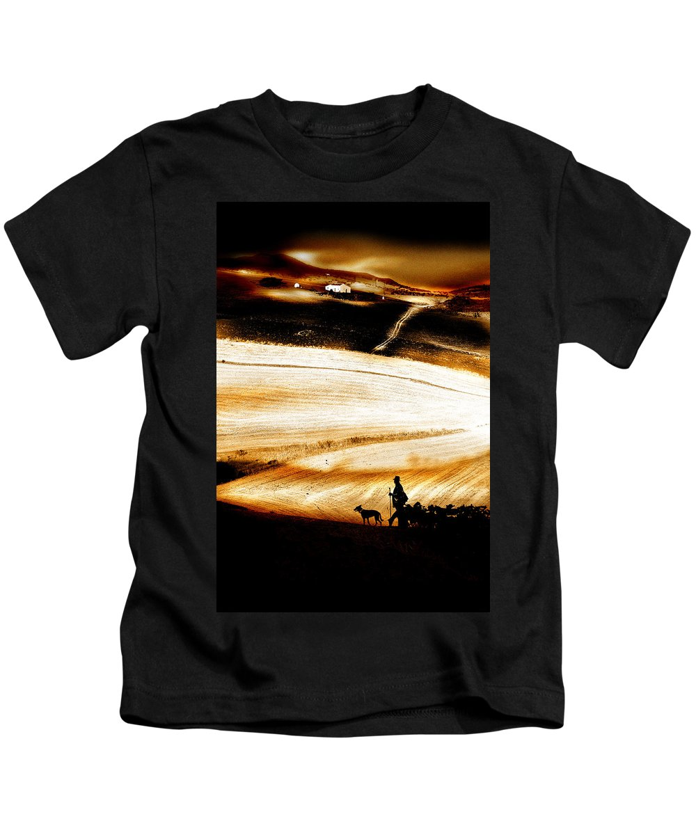 Landscape Kids T-Shirt featuring the photograph The Path Home by Mal Bray
