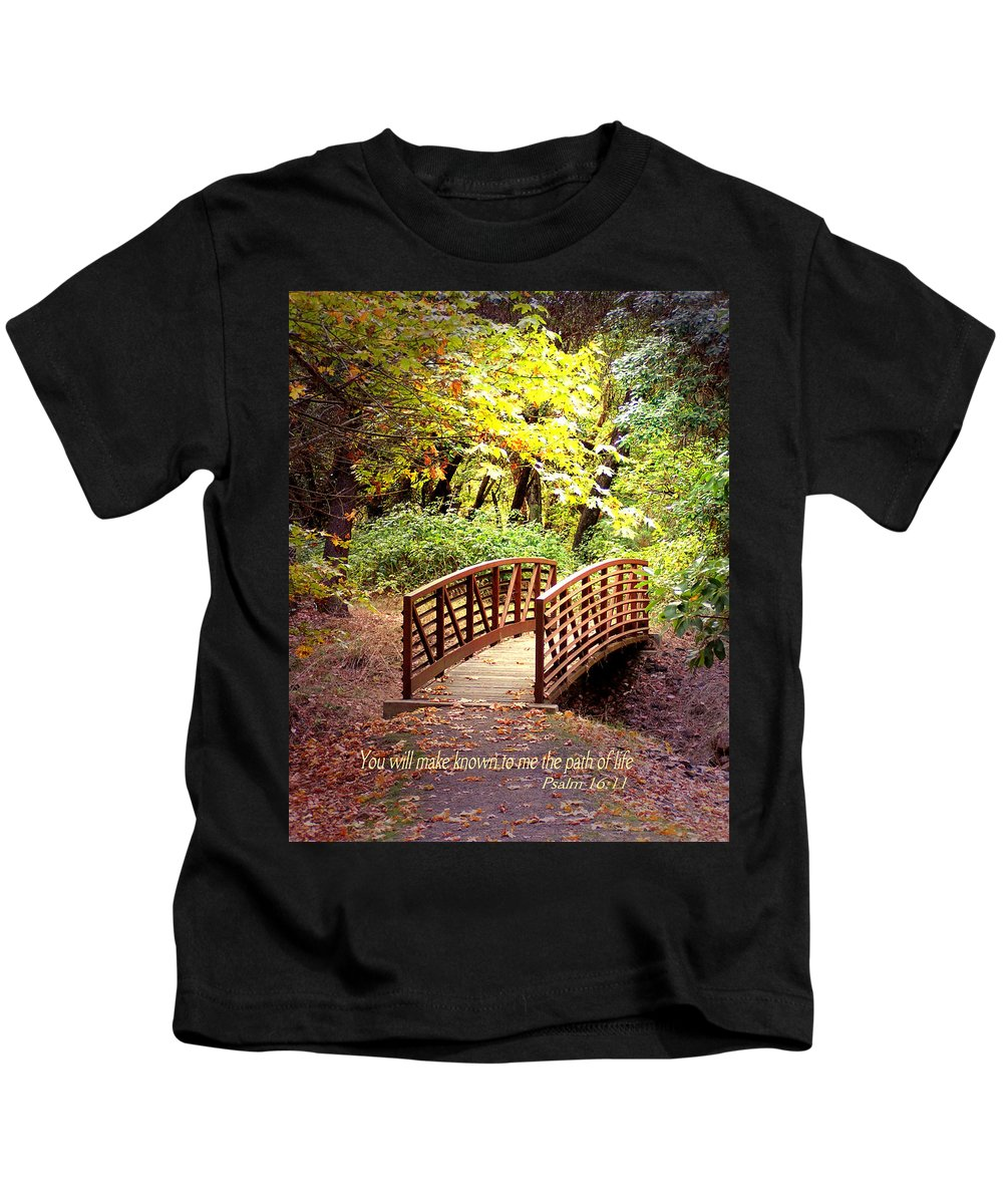 Scripture Kids T-Shirt featuring the photograph The Path by Lisa Adams