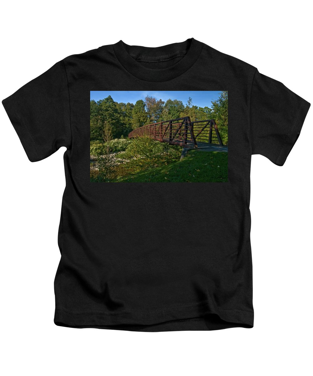 vermont Kids T-Shirt featuring the photograph The Path by Paul Mangold
