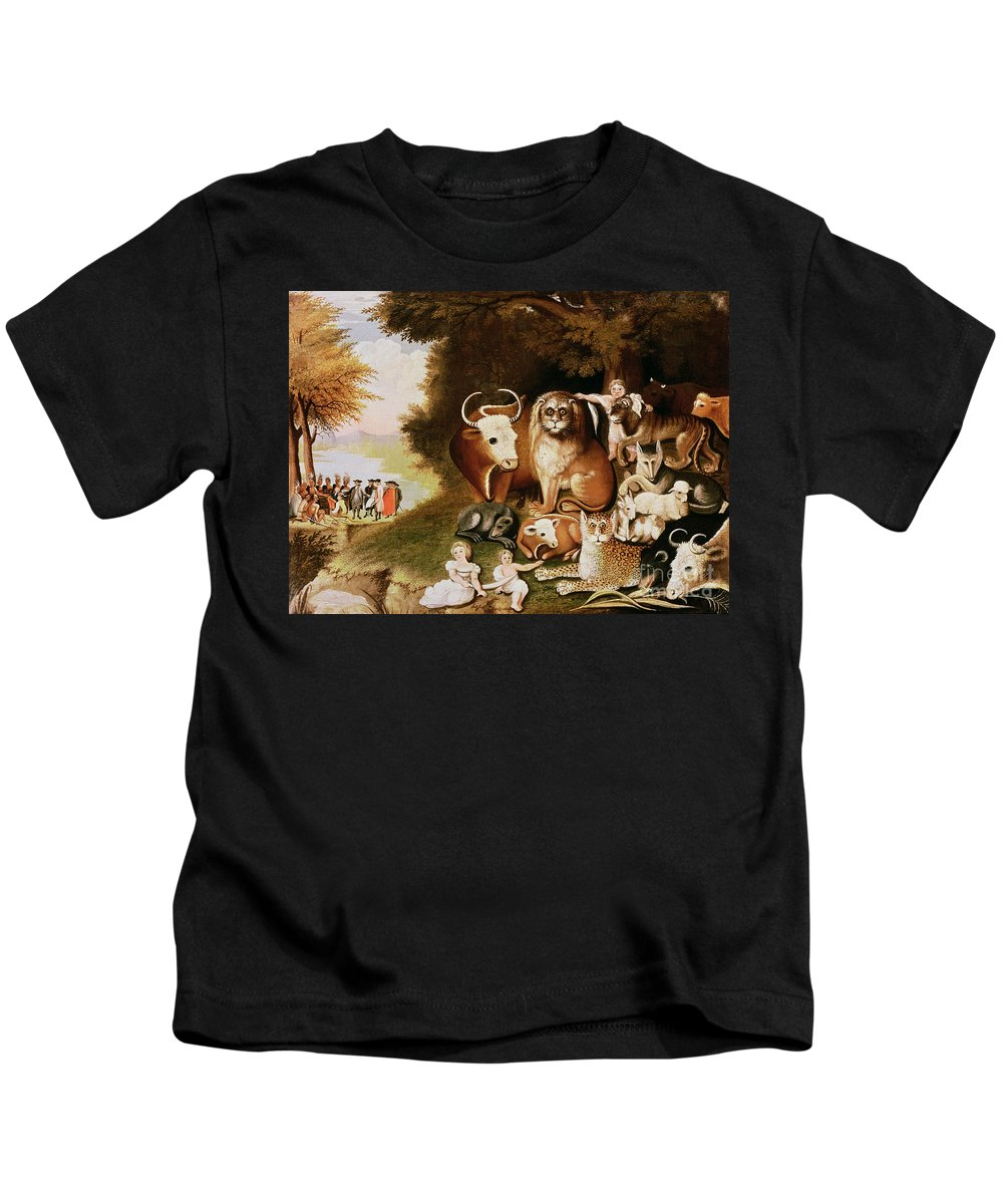 The Kids T-Shirt featuring the painting The Peaceable Kingdom by Edward Hicks