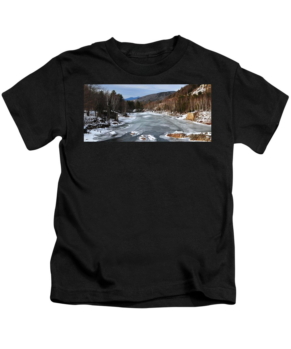 Back Roads Of New Hampshire January 28 Kids T-Shirt featuring the photograph The Pemigewassett From 175 by Bill Driscoll