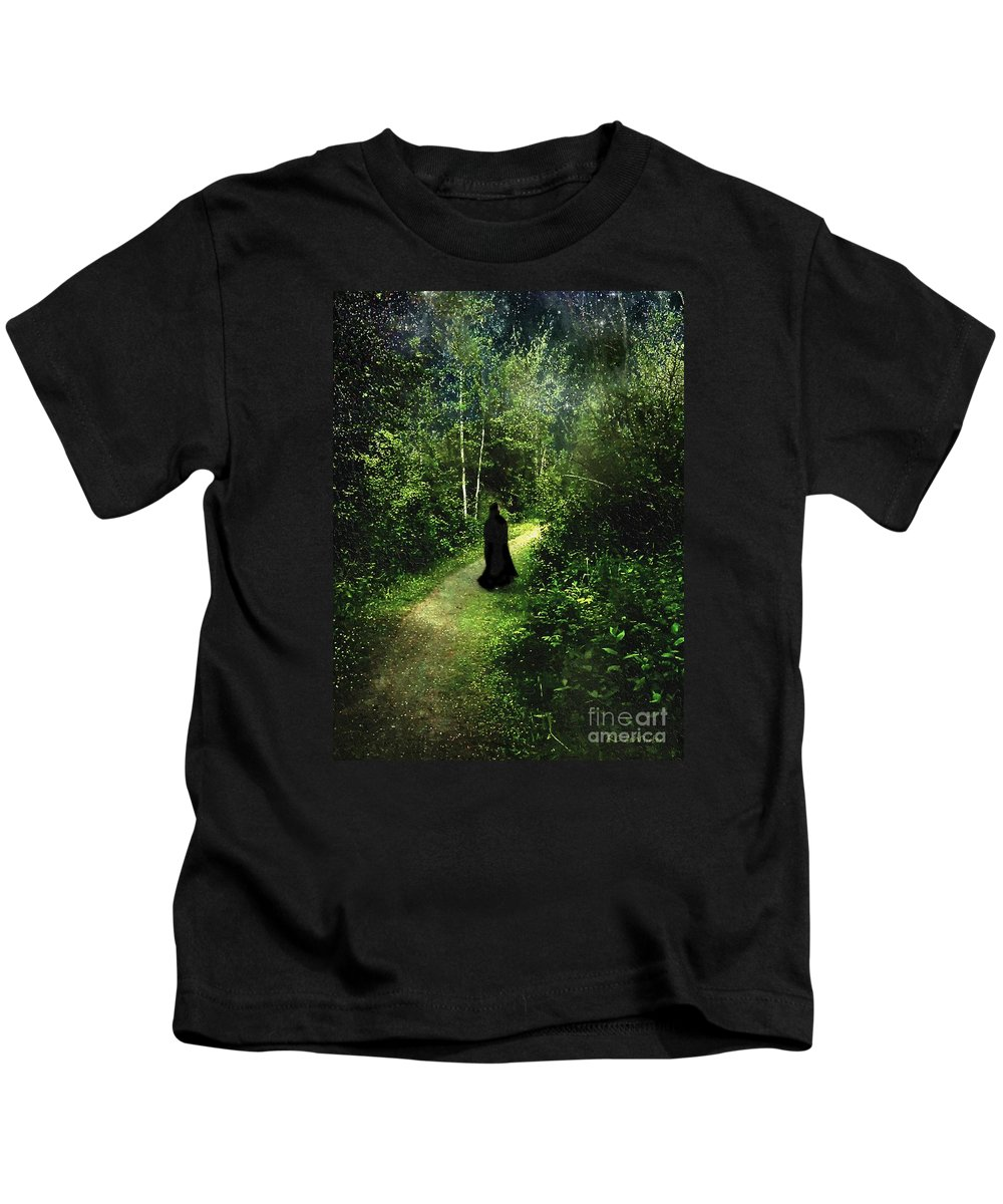 Forest Kids T-Shirt featuring the painting The Pilgrimage by RC DeWinter