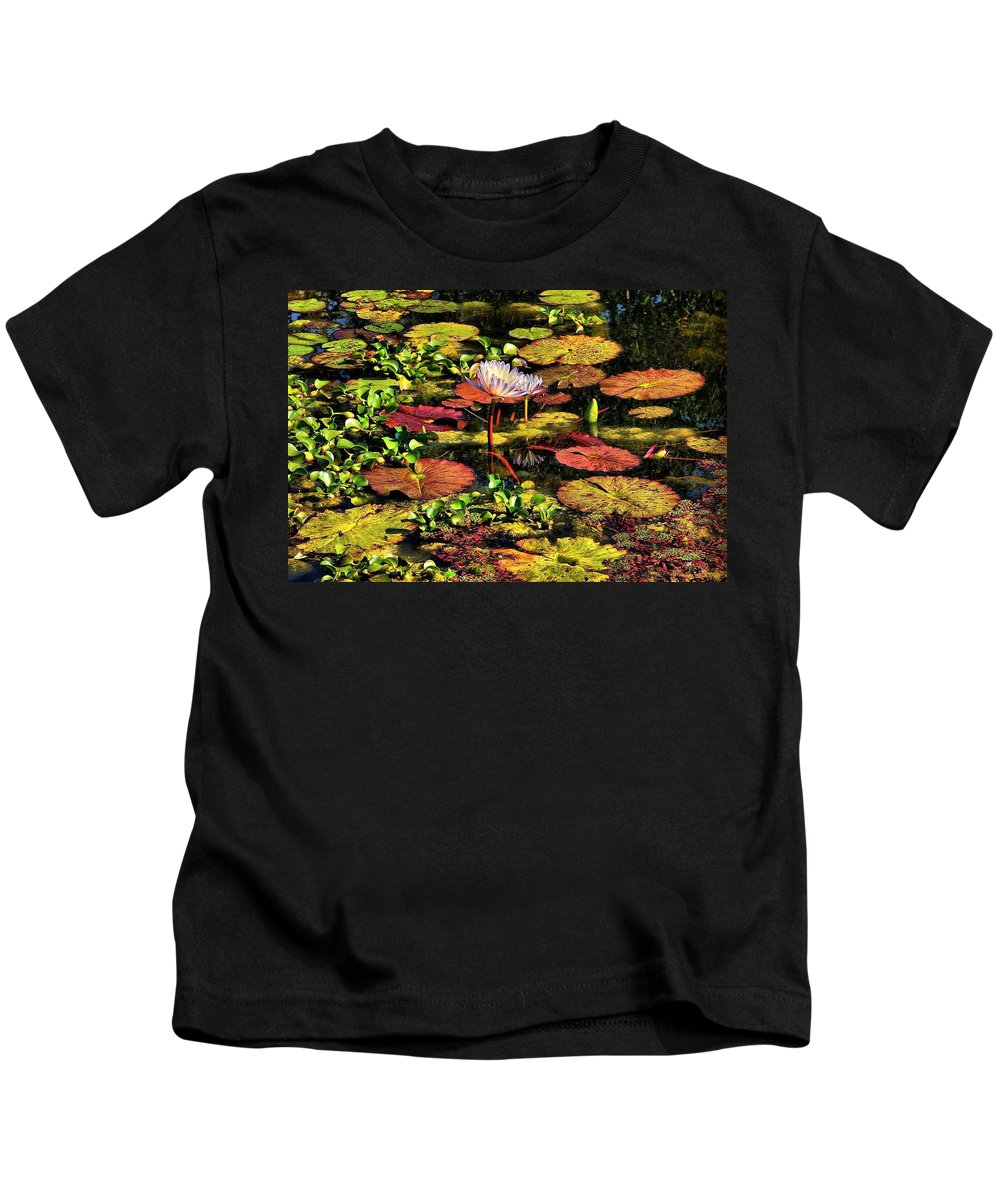 Pseudo-hdr Kids T-Shirt featuring the photograph The Pond by Lyle Hatch