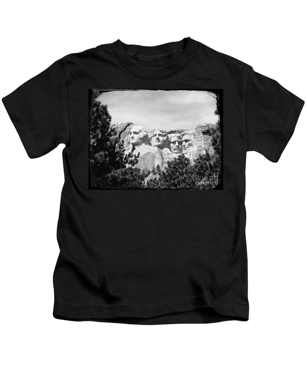 Carvings Kids T-Shirt featuring the photograph The Presidents Four by Steven Parker