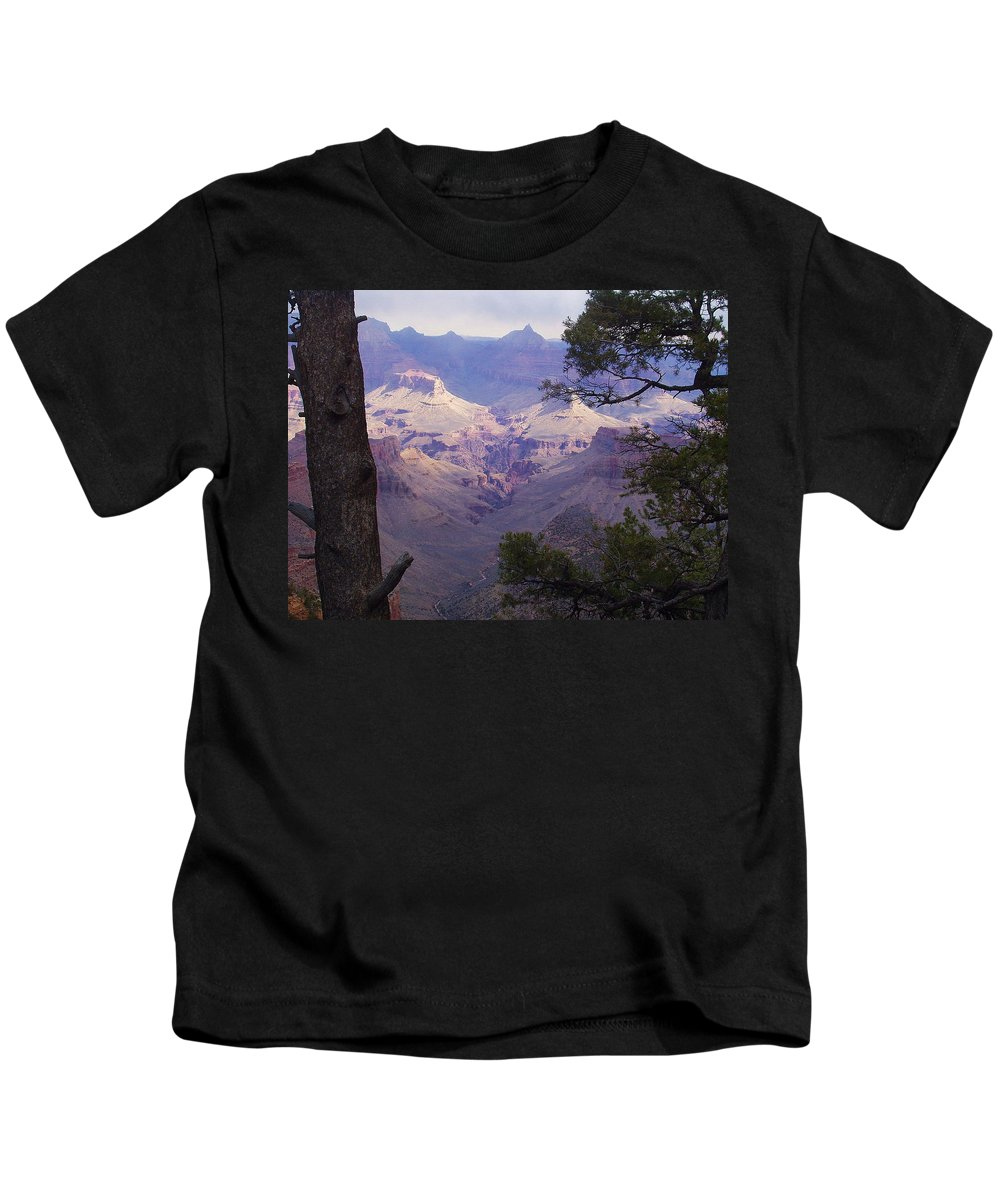 Grand Canyon Kids T-Shirt featuring the photograph The Purple Grand by Marna Edwards Flavell