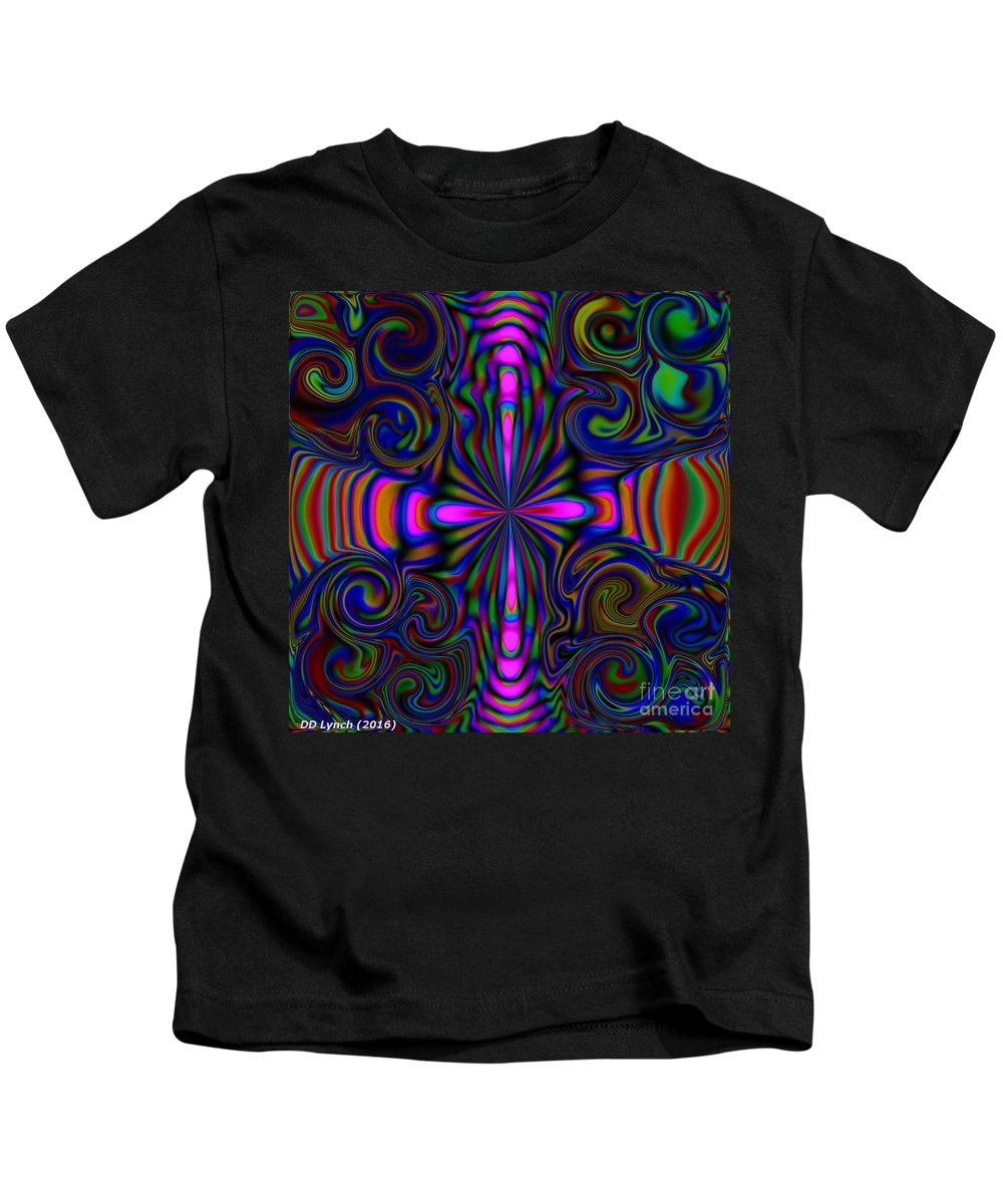 Rainbow Kids T-Shirt featuring the digital art The Rainbow Spirit by Debra Lynch