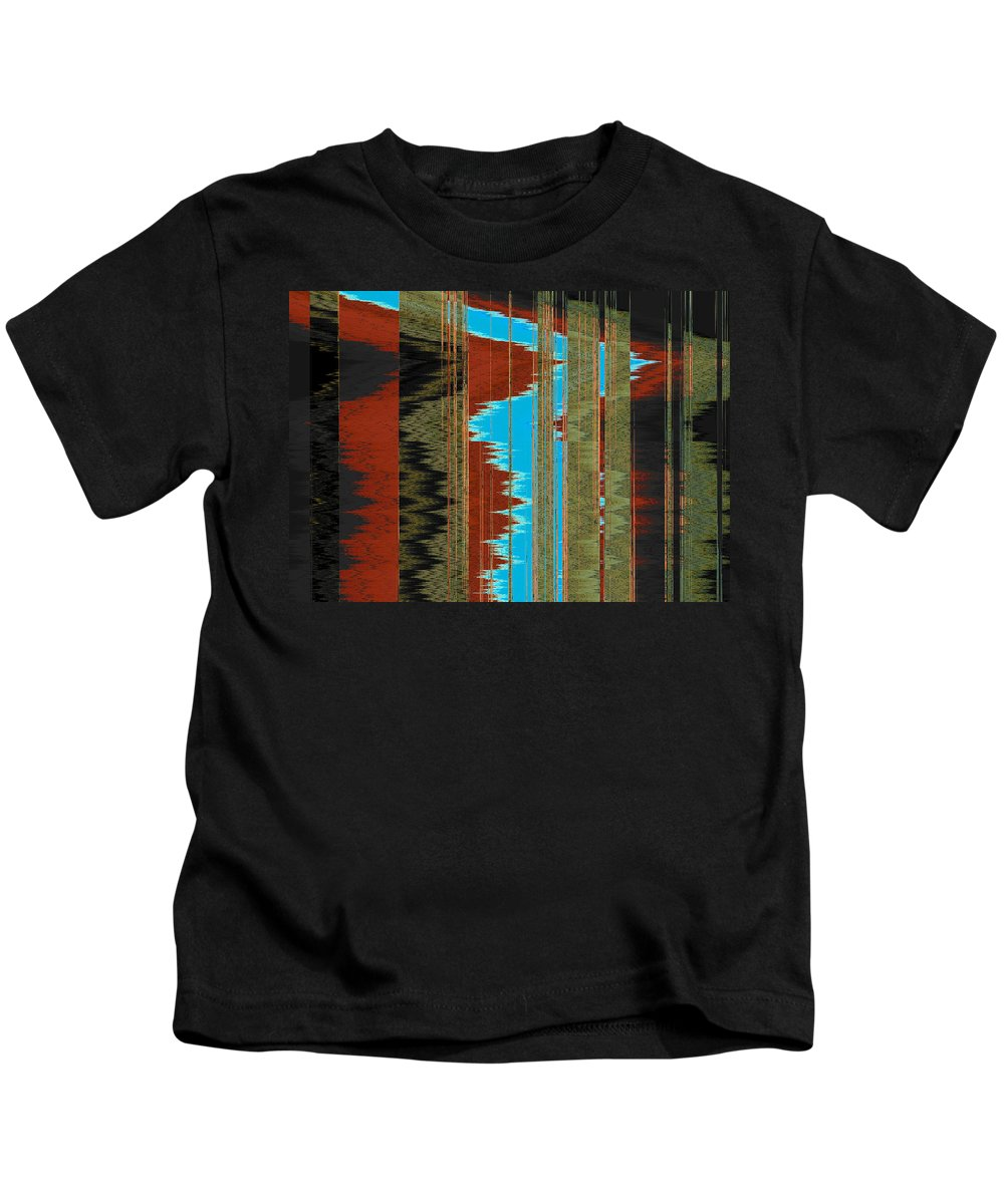 Abstract Kids T-Shirt featuring the digital art The Red Road by Lenore Senior
